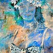 young lady in Papeete Art Print