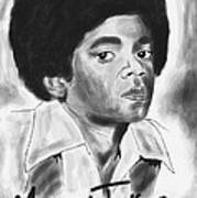 Young Michael Jackson Art Print