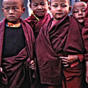 Young Monks II Art Print