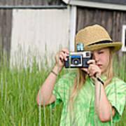 Young Photographer Art Print