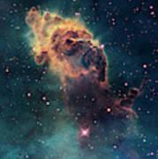 Young Stars Flare In The Carina Nebula Art Print