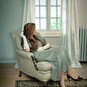 Young Woman In A Chair Art Print