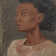 Young Woman With An Afro Art Print