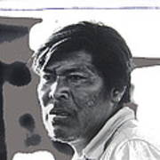 Young Yaqui Man New Pascua Arizona 1969 Art Print
