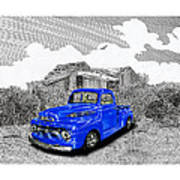 Your 1952 F 100 Pick Up In N M  Art Print