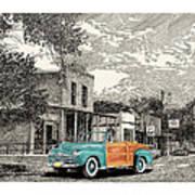 1946 Ford Sports Man Convertible  In Hillsboro N M  Art Print