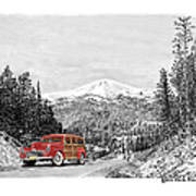 1946 Ford Special Deluxe Woody On Apache Summit Art Print
