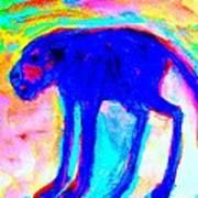 When Your Inner Dog Is Feeling Blue  Art Print