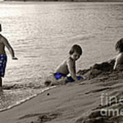 Youth At The Beach Art Print