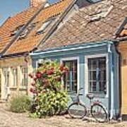 Ystad Cottages Art Print