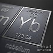 Ytterbium Chemical Element Art Print