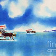 Yubu Island-water Buffalo Taxi  Art Print