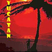 Yucatan Caribbean Art Print