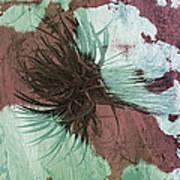 Yucca Abstract Sage And Mauve Art Print