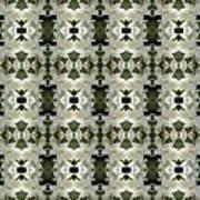 Yucca White Pattern Art Print