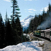 Yukon Railroad Art Print