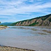 Yukon River As It Heads Northeast To The Arctic Circle-yt Art Print