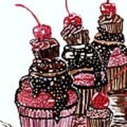 Yum Candy Cupcake Art Print