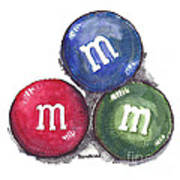 Yummy M And Ms Art Print