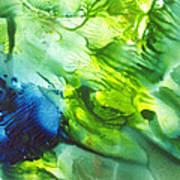 Yupo Blue Ice Art Print