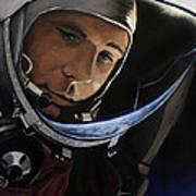 Yuri Alekseyevich Gagarin Art Print by Simon Kregar
