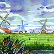 Zaanse Schans Windmills Art Print
