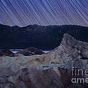 Zabriskie Point Star Trails Print by Jane Rix