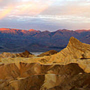Zabriskie Point Sunrise Death Valley Art Print