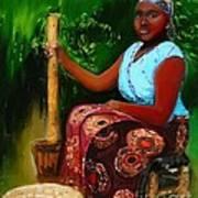 Zambia Woman Art Print