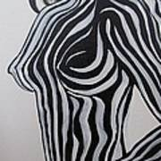 Zebra Body Paint Art Print