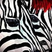 Zebra Couple Art Print