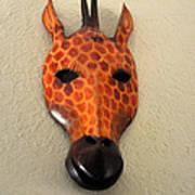Zebra Head Mask Art Print