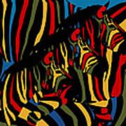 Zebra In The Jungle 2 Art Print