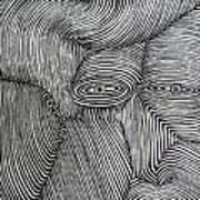 Zebra Line Art Print