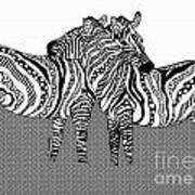 Zebra Love 10 Art Print