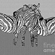Zebra Love 12 Art Print