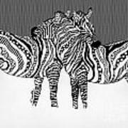 Zebra Love 14 Art Print