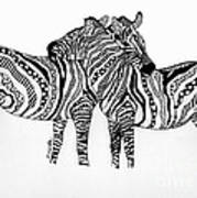 Zebra Love 2 Art Print