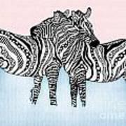 Zebra Love 21 Art Print