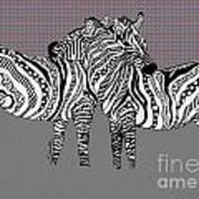 Zebra Love 25 Art Print