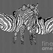 Zebra Love 26 Art Print