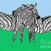 Zebra Love 6 Art Print