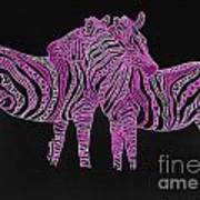 Zebra Love 7 Art Print