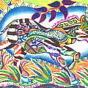 Zuri - Zebra Art Print