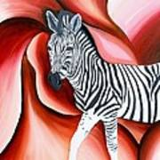 Zebra - Oil Painting Art Print by Rejeena Niaz