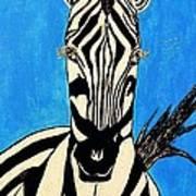 Zebra Portrait 5 Art Print