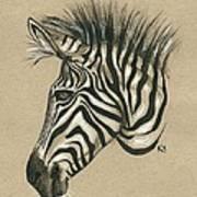 Zebra Profile Art Print