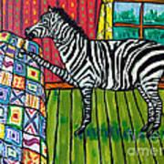 Zebra Quilting Art Print by Jay  Schmetz