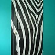 Zebra Stripe Mural - Door Number 1 Art Print