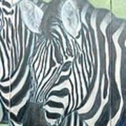 Zebra Triptych General Art Print